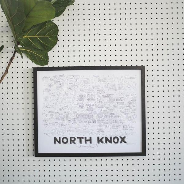 Knoxville Map Illustration - North