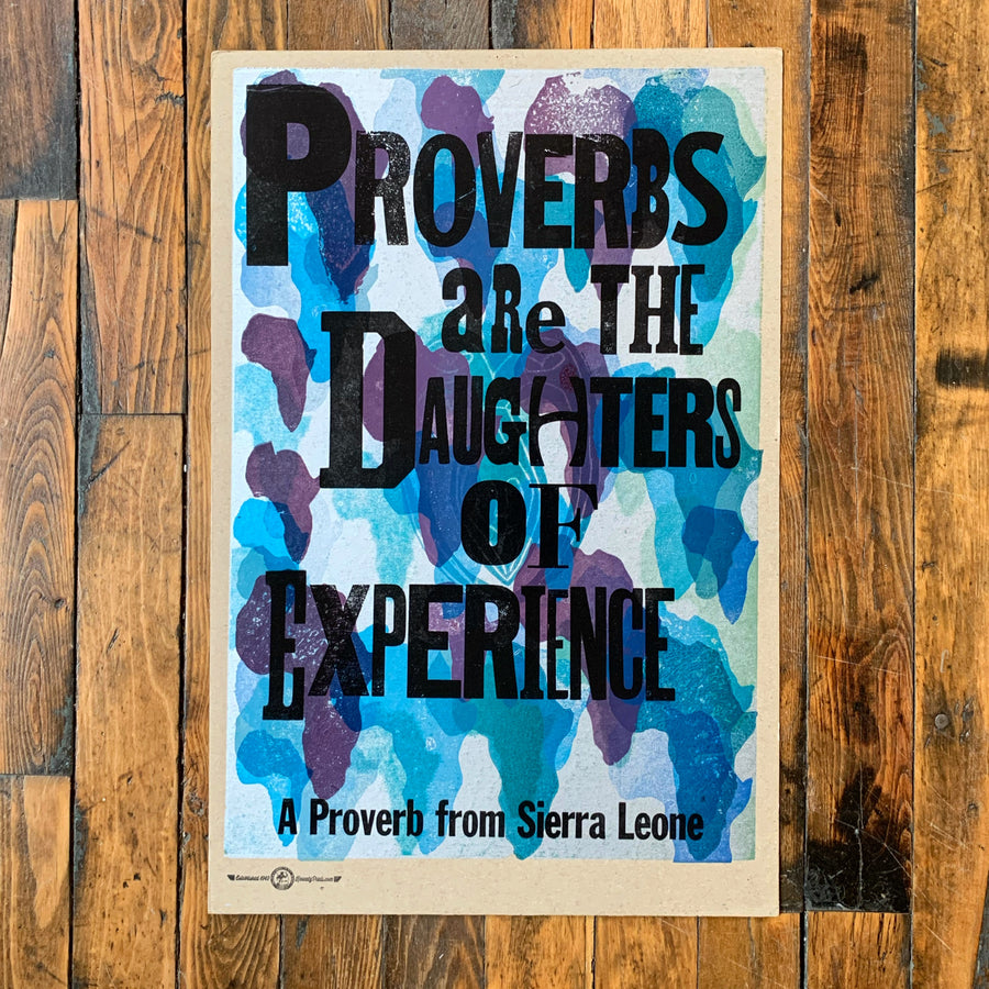 Proverbs are the Daughters of experience(Blue) - Kennedy Prints