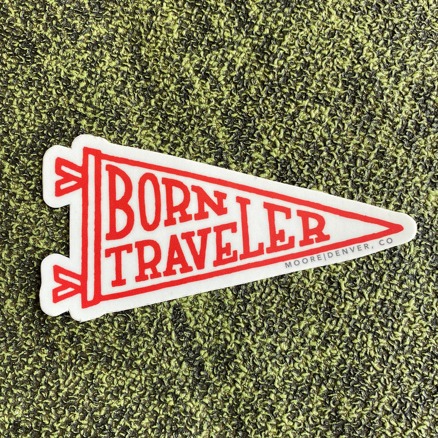 BORN TRAVELER - STICKER