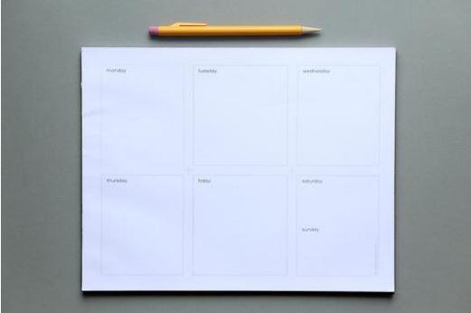 Origami Day Weekly Planning Sheets - Horizontal Layout