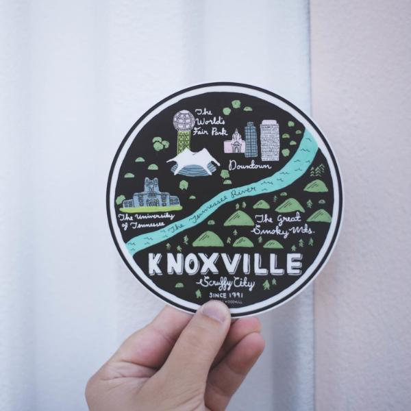 Knoxville Map Sticker