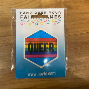 Fairy Cakes: Queer Hexagon Sticker