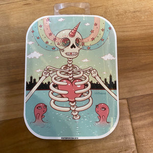 Tara Mcpherson Skeleton Heart Sticker