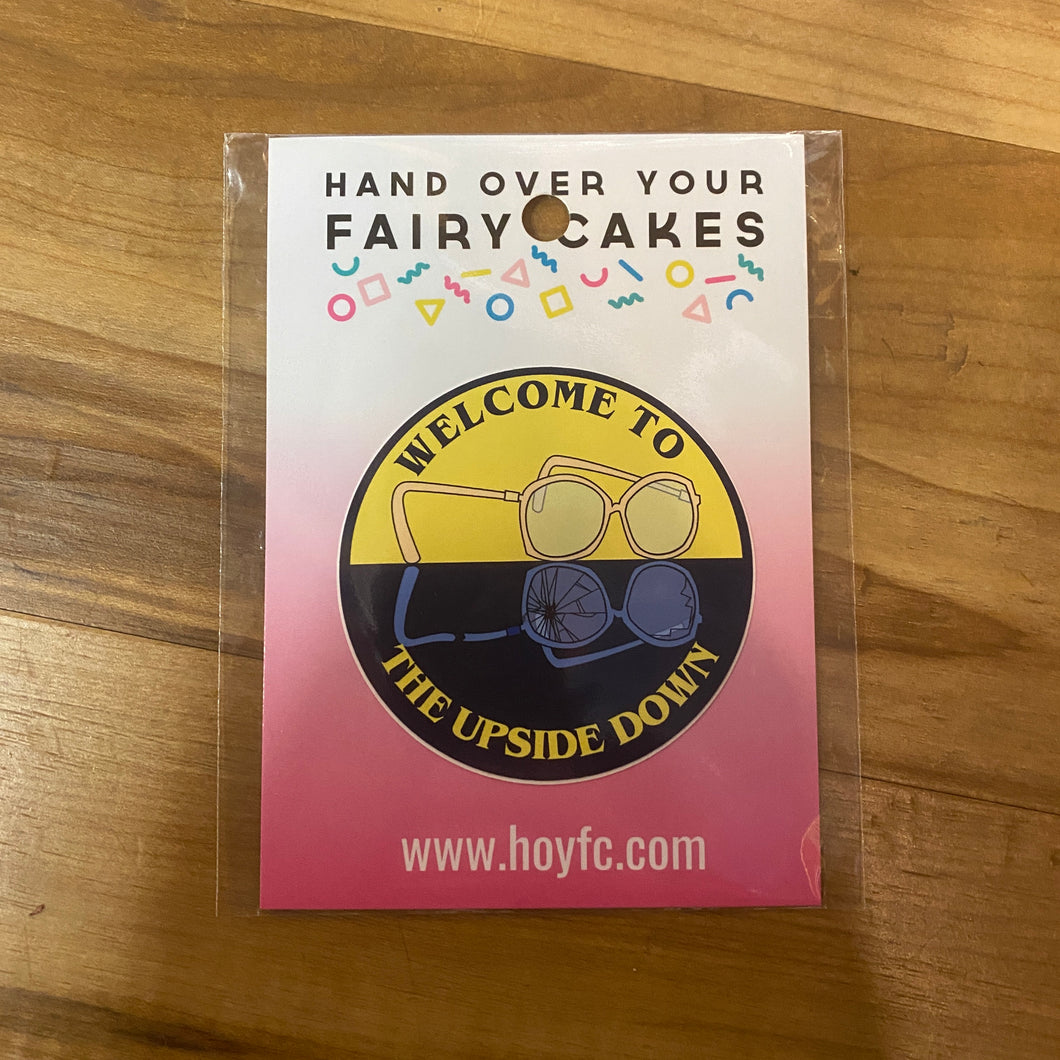 Fairy Cakes: Welcome To The Upside Down Sticker