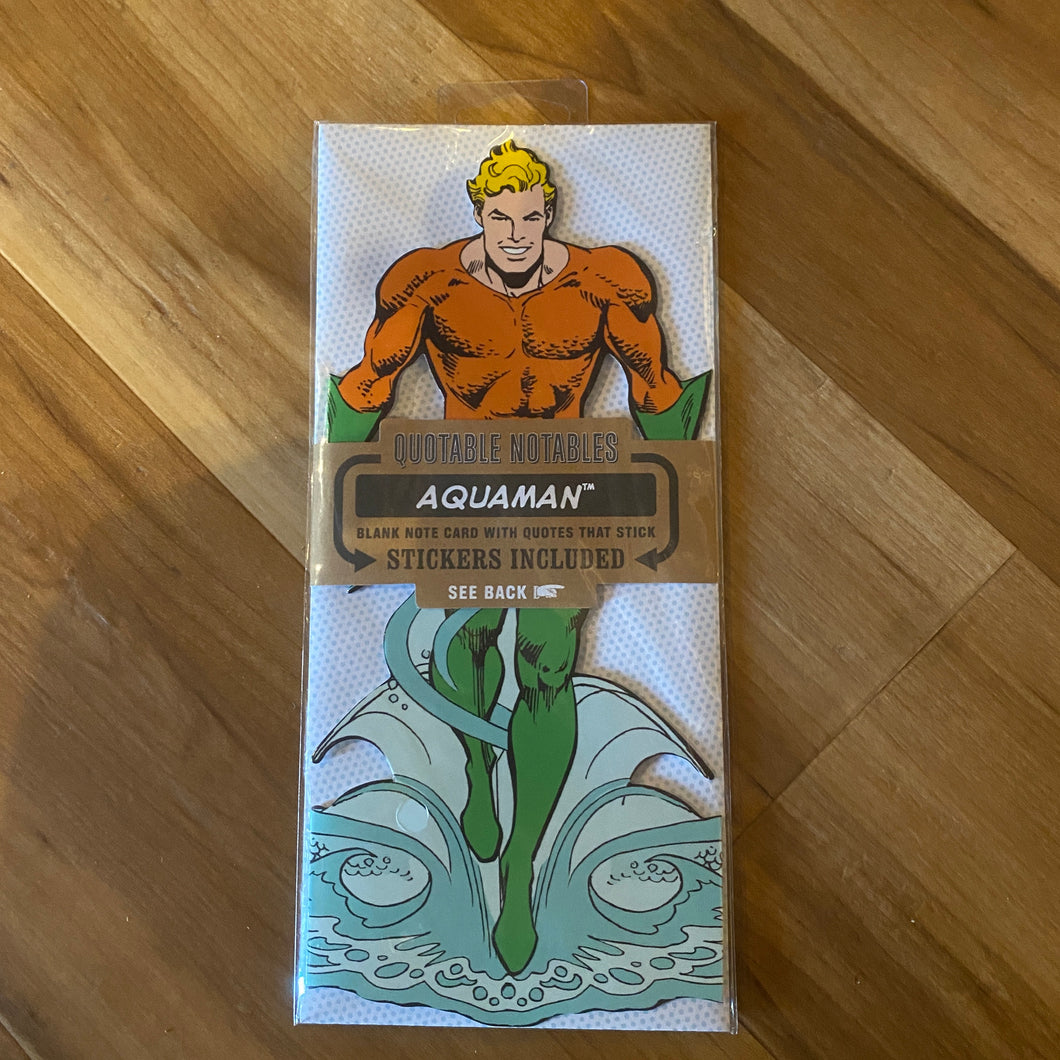 Aquaman Sticky Note And Sticker Pack