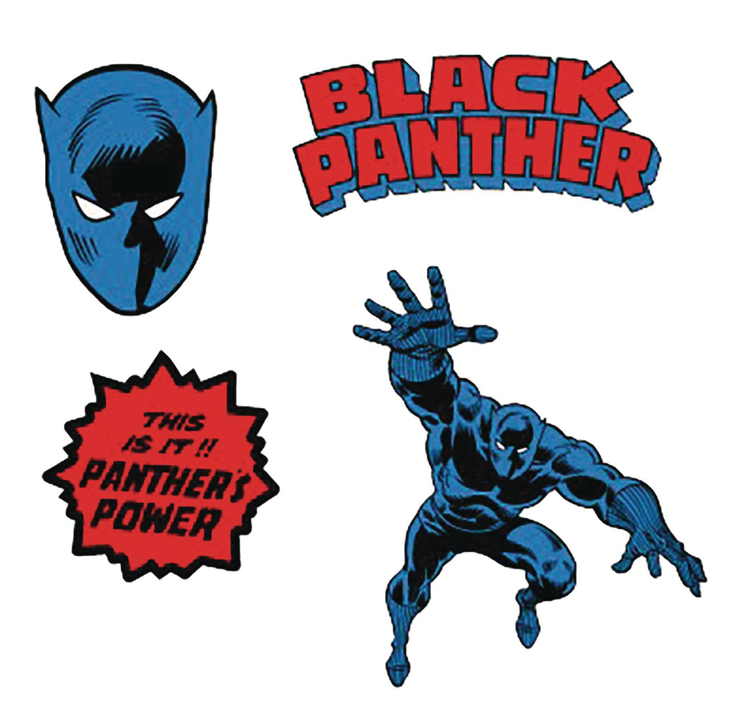 Black Panther Enamel Lapel Pin Set