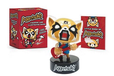 Aggretsuko Figurine With Sound & Book Kit - Books