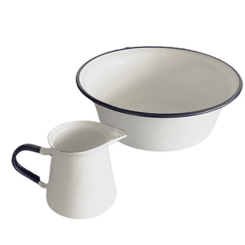 Enamel Bowl and Jug Set