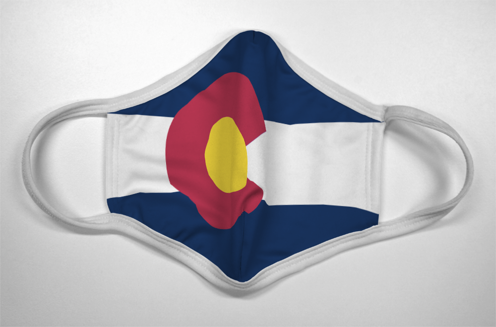 Colorado Flag - Mask