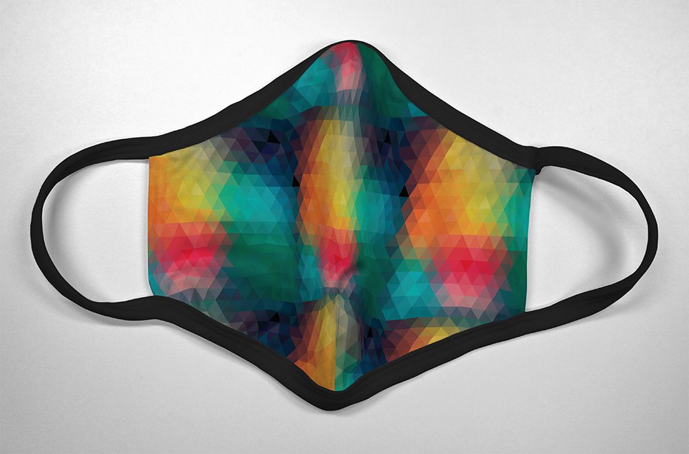Rainbow Geometric - Mask