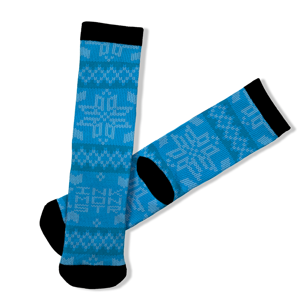 Knit Light Blue - OTE Mask+Socks Gift Pack