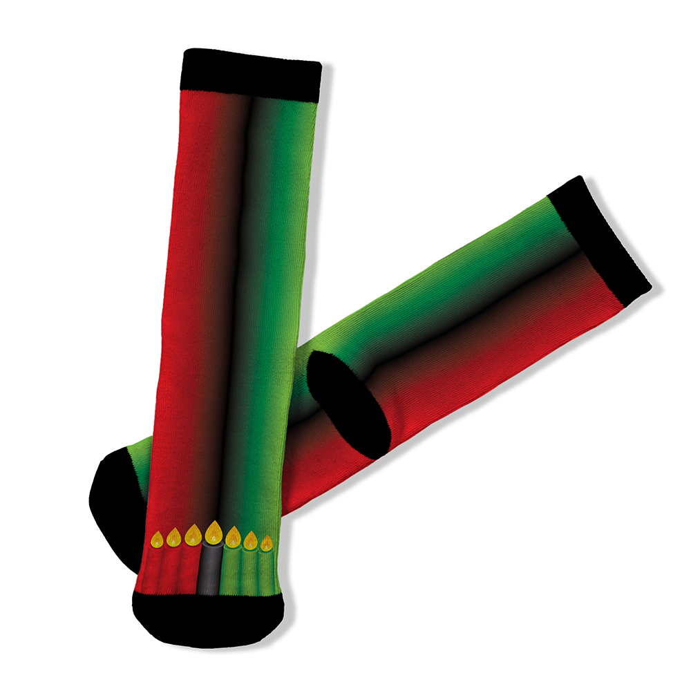 Kwanzaa Candles - Socks