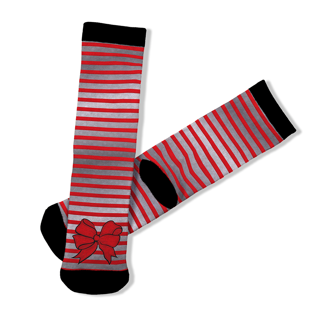 Red Bow - BTH Mask+Socks Gift Pack