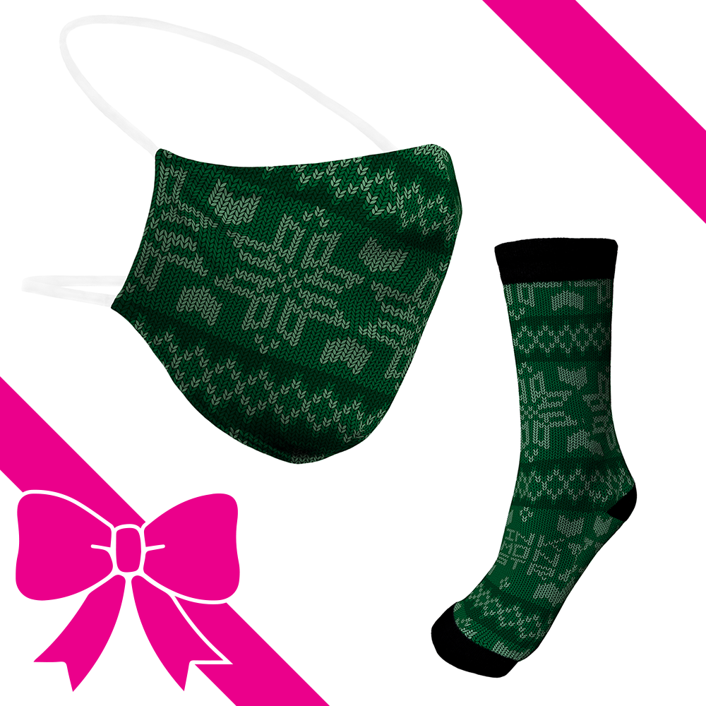 Knit Green - BTH Mask+Socks Gift Pack