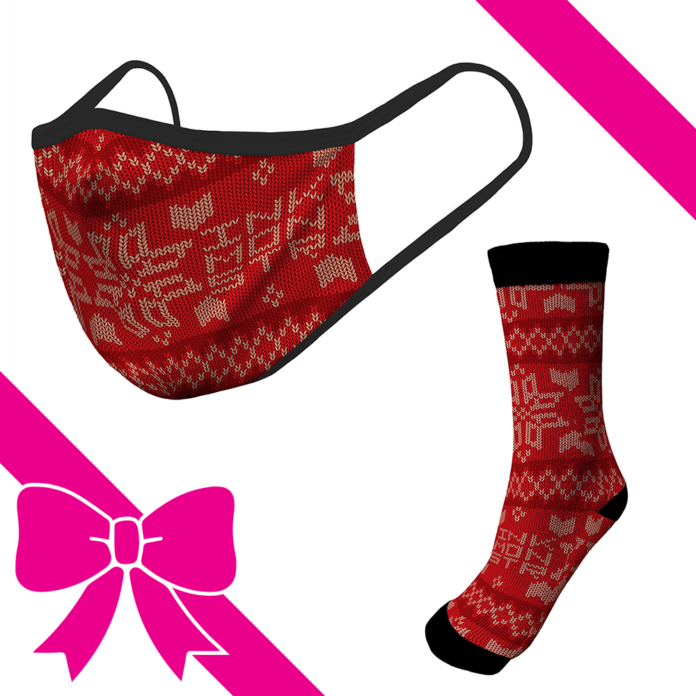 Knit Red - OTE Mask+Socks Gift Pack