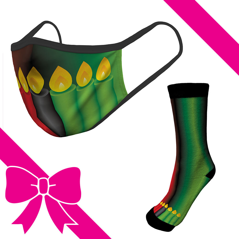Kwanzaa Candles - OTE Mask+Socks Gift Pack