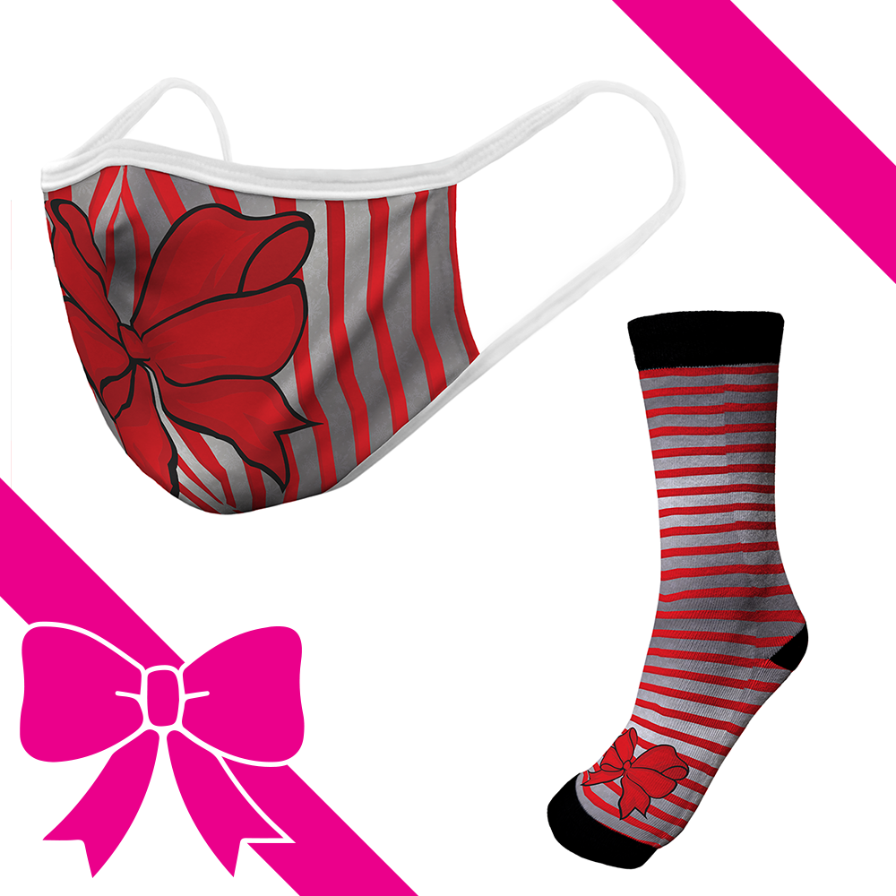 Red Bow - OTE Mask+Socks Gift Pack