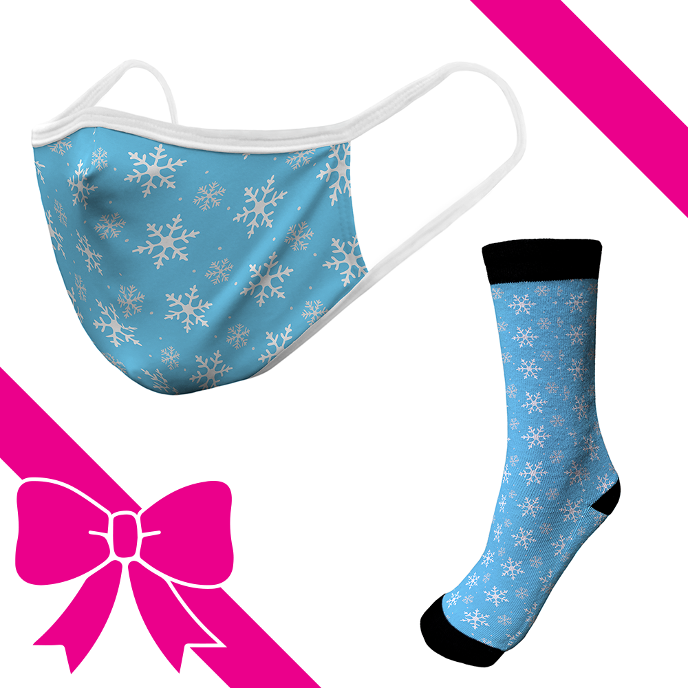 Snowflakes - OTE Mask+Socks Gift Pack
