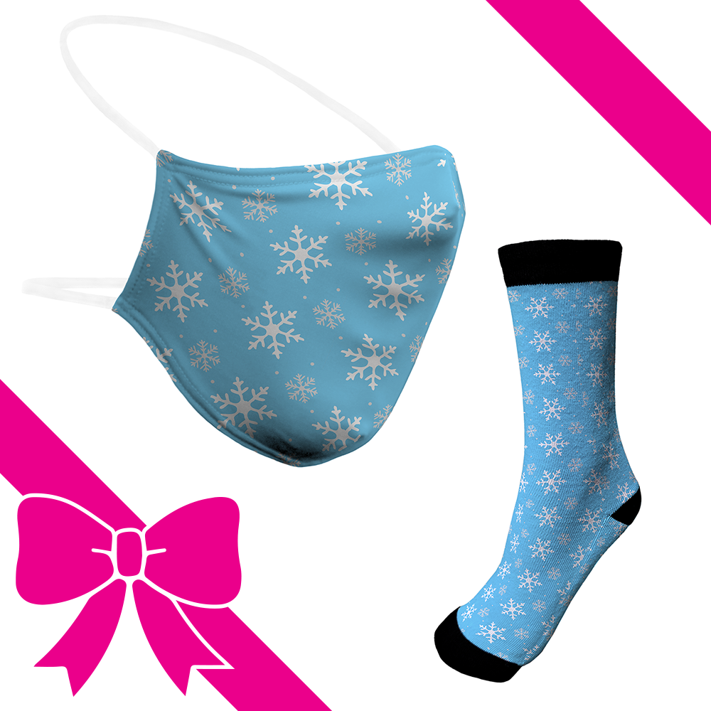 Snowflakes - BTH Mask+Socks Gift Pack