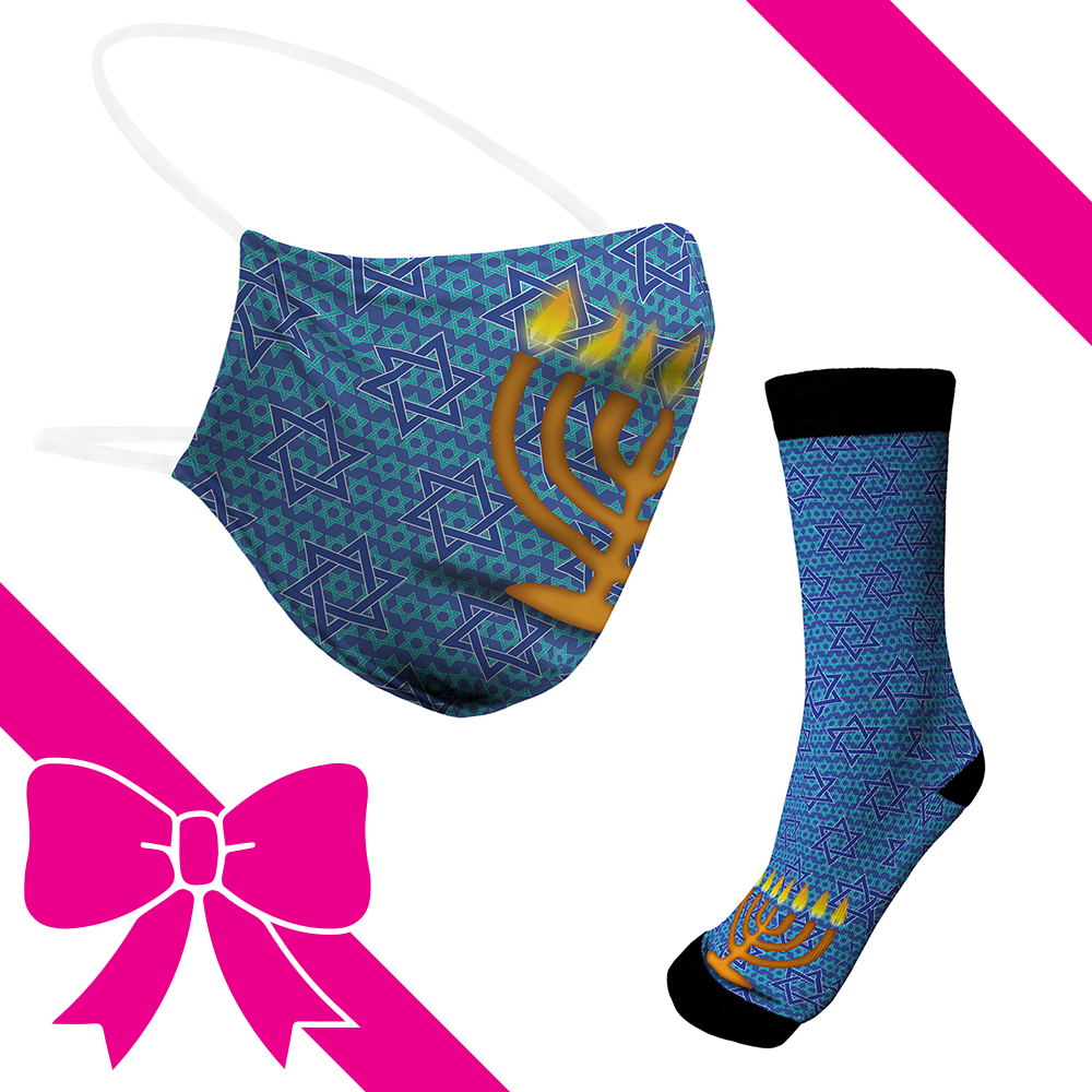 Star Of David - BTH Mask+Socks Gift Pack