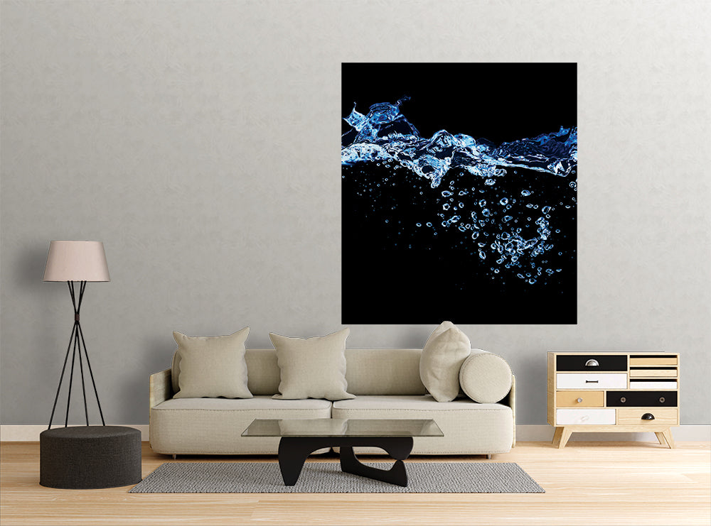 Blue Water Stream - Wall Mural