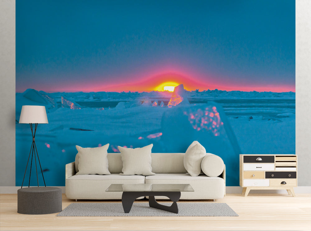 Arctic Sunset - Wall Mural