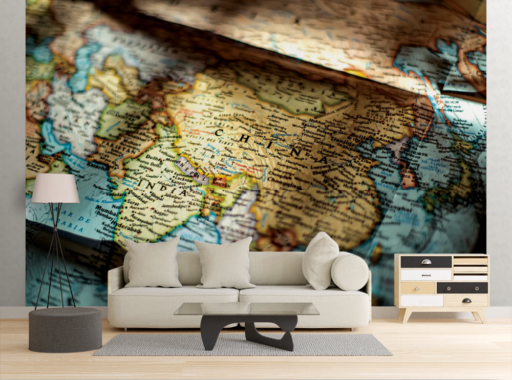 Asian Map - Wall Mural