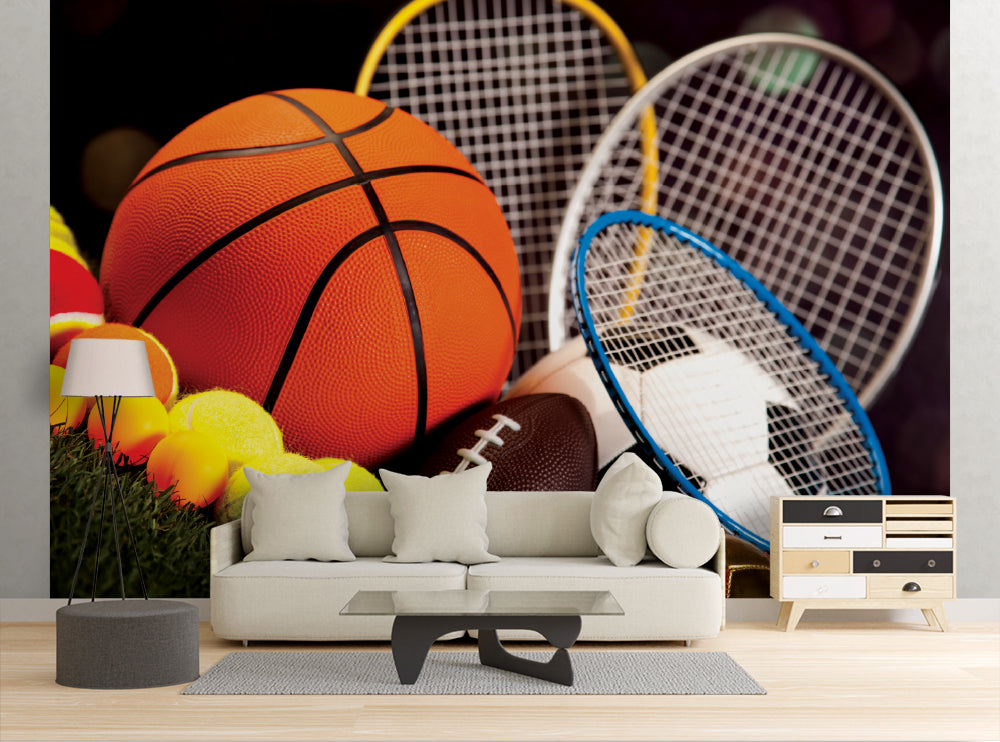 Sporting Equipment - Wall Mural