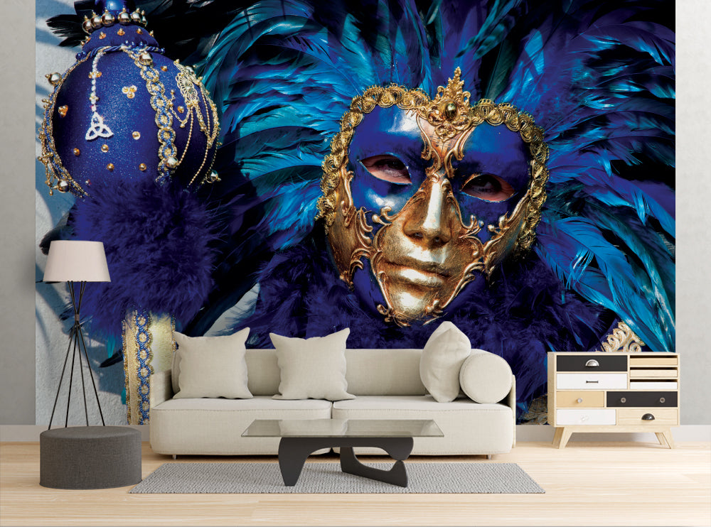 Blue Jester - Wall Mural