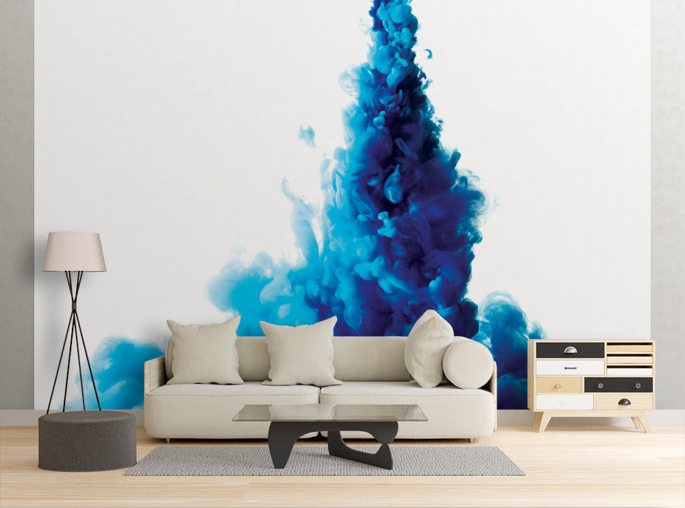 Blue Smoke - Wall Mural