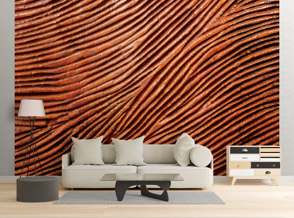 Carved Redwood - Wall Mural