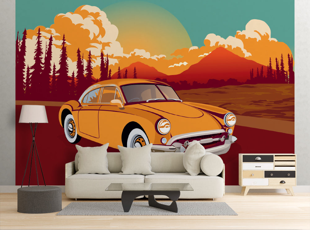 Classic Roadster - Wall Mural