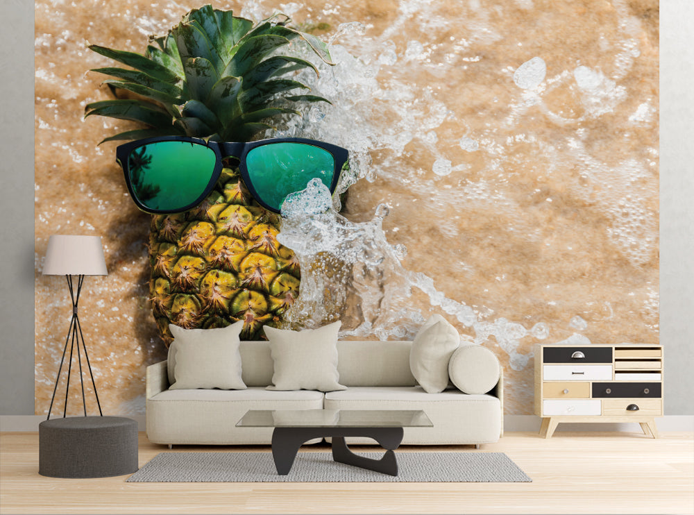 Cool Pineapple - Wall Mural