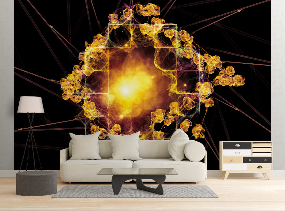 Flame Rose - Wall Mural