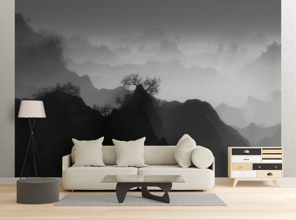 Foggy Forest - Wall Mural