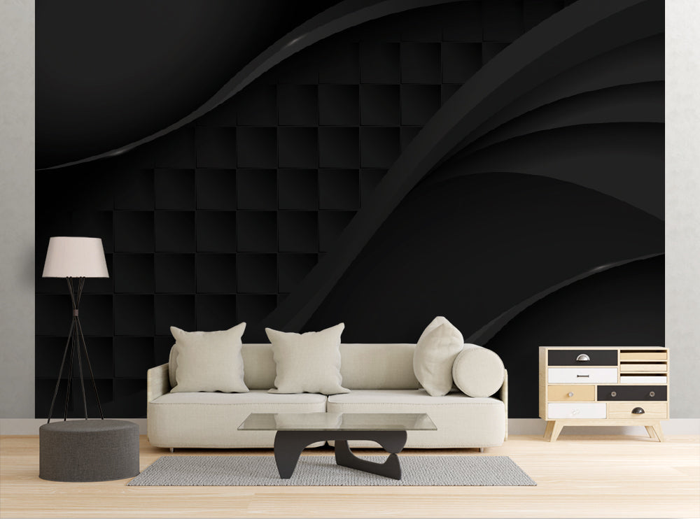 Geometric Black - Wall Mural