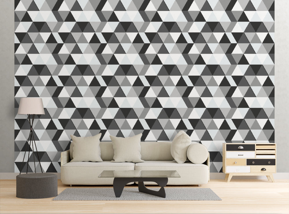Geometric Triangles - Wall Mural