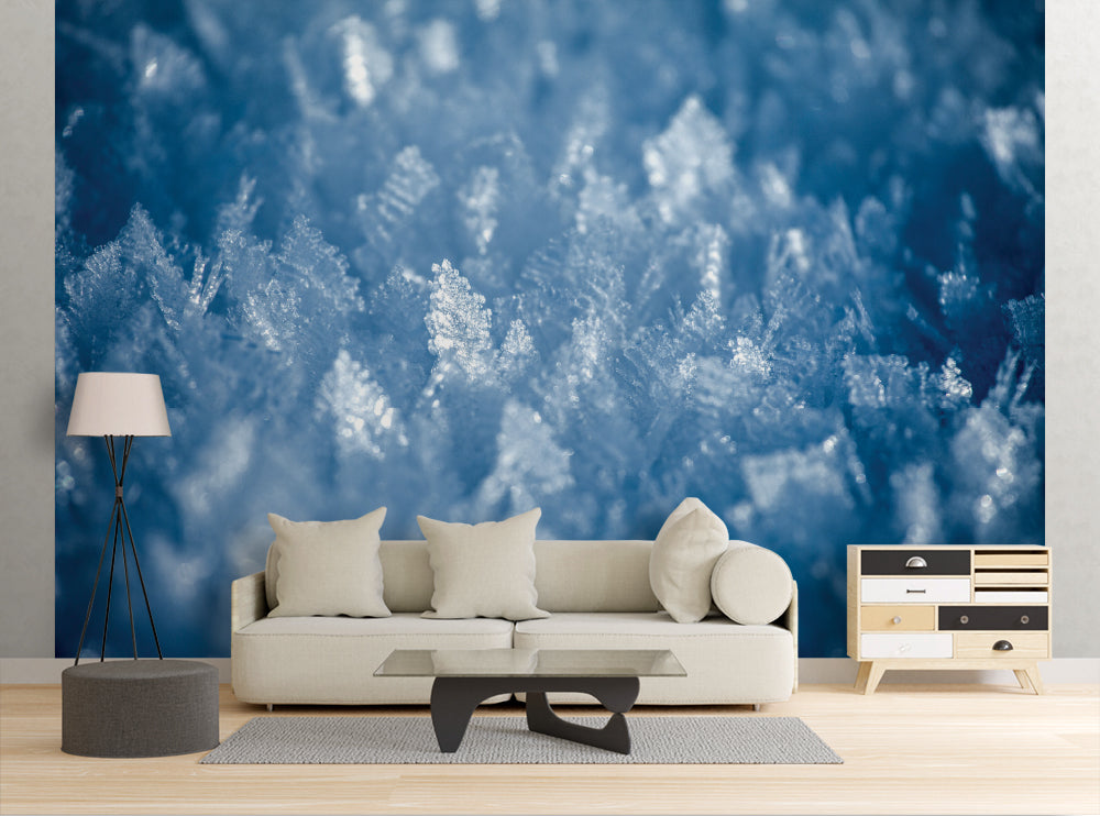 Ice Flakes - Wall Mural