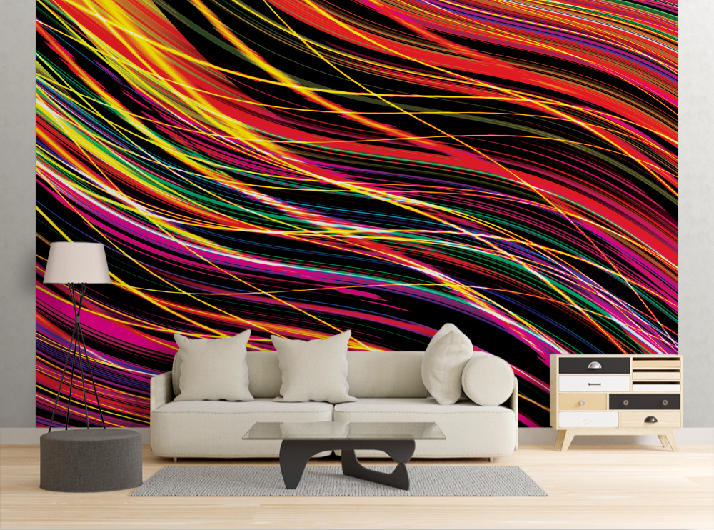 Neon Lines - Wall Mural