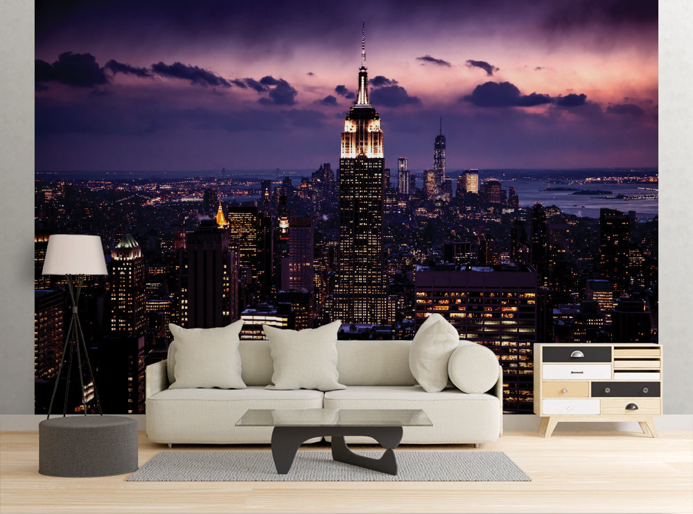 New York Sunset - Wall Mural