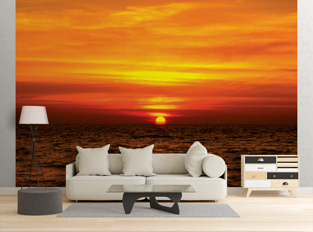 Ocean Sunset - Wall Mural