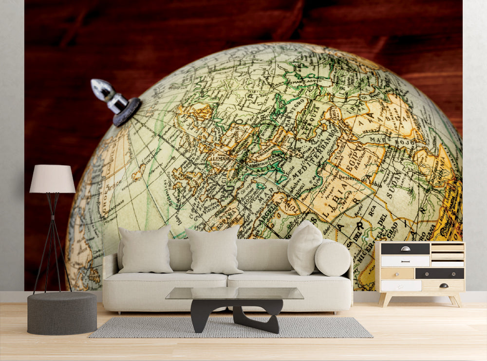 Old World Globe II - Wall Mural
