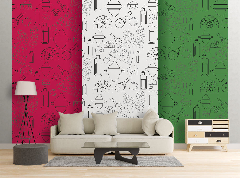 Pizza Flag - Wall Mural