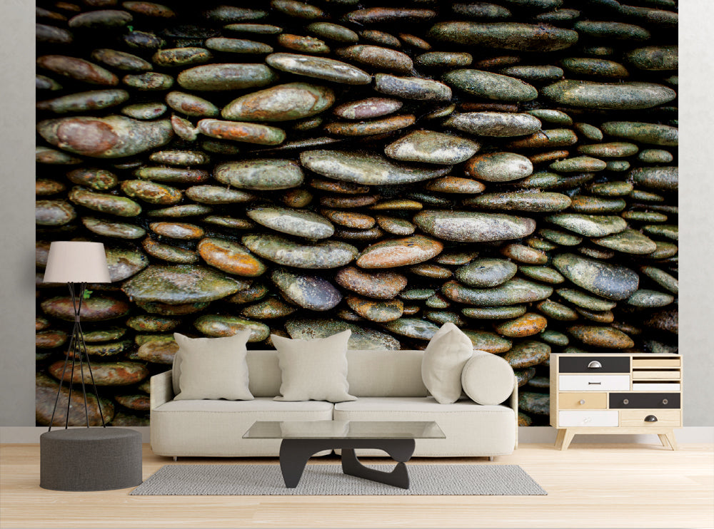 River Rock Wall - Wall Mural