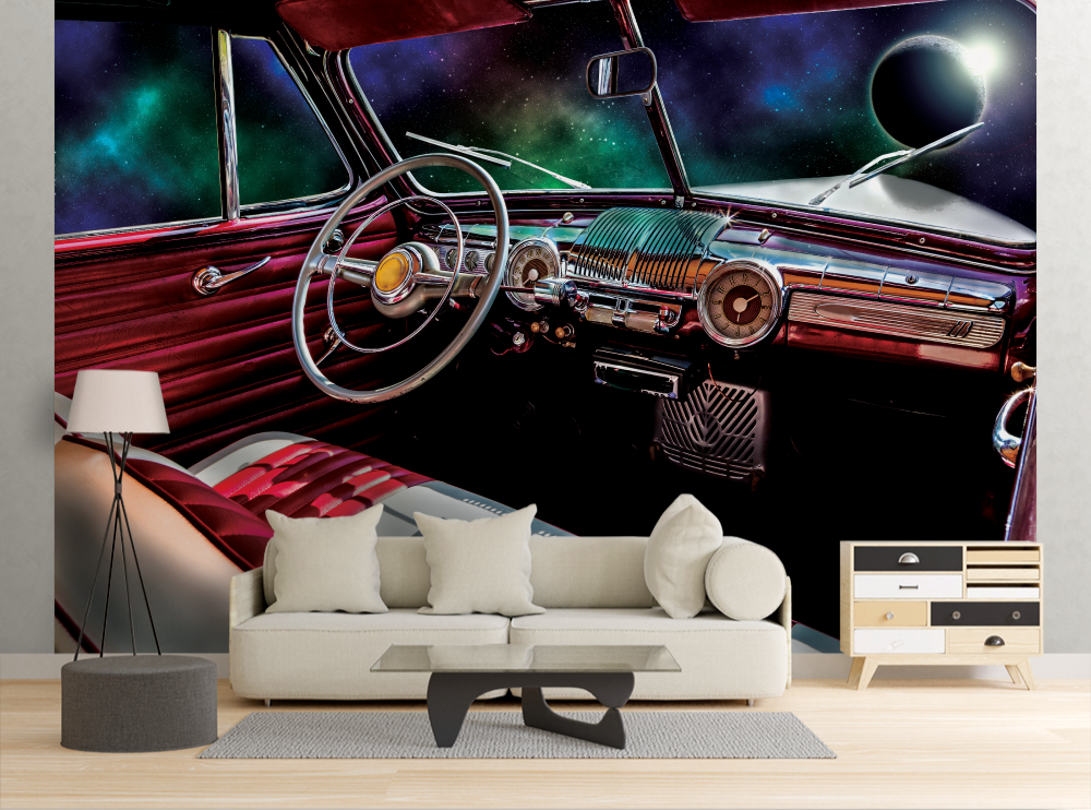 Sedan In Space - Wall Mural