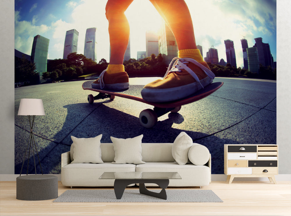 Skateboard City - Wall Mural