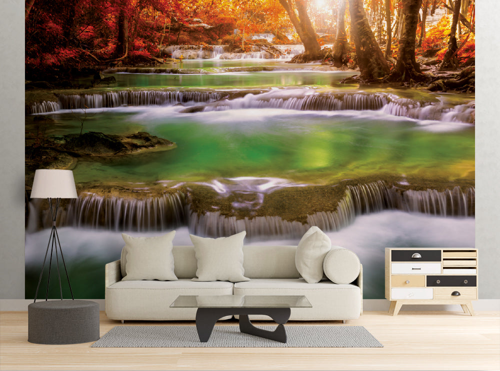 Tiered Waterfall - Wall Mural