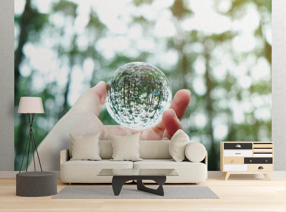 Tree Glass Ball - Wall Mural
