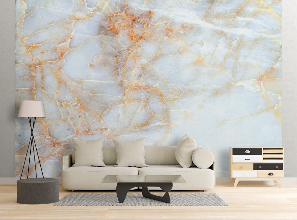 White Marble - Wall Mural