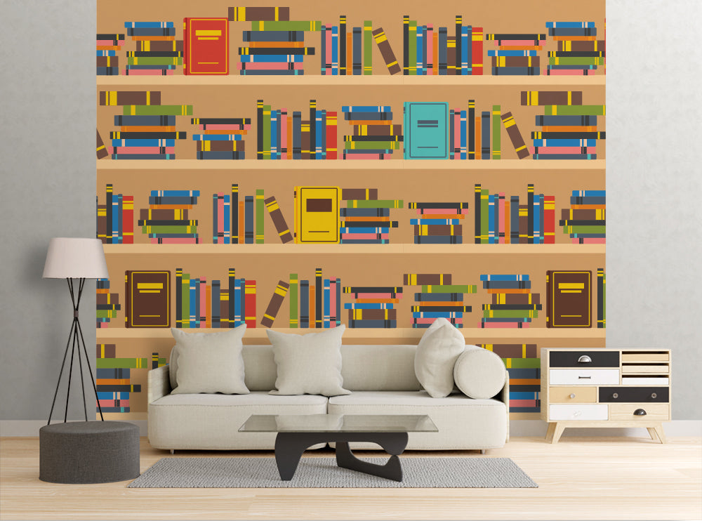 Book Shelves  - Wall Mural